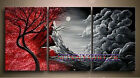 Modern Tree Canvas Wall Art Abstract Landscape Oil Painting (No frame)