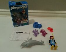 Playmobil 3948 Deep Sea Scuba Diver Dolphin Playset Complete! Box Retired
