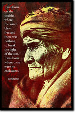 GERONIMO ART PRINT 2 PHOTO POSTER GIFT NATIVE AMERICAN APACHE INDIAN QUOTE