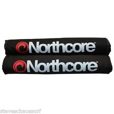NORTHCORE Surfboard Roof Bar Pads NEW 17 Inch 43cm PAIR (2) padded bars rack