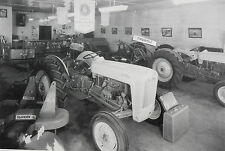 "12 By 18"" Black & White Picture 1953 Ford Jubilee Tractor, dealer showroom"