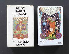 Vintage Zigeuner Tarot Tsigane Gypsy Tarot Cards Deck Walter Wegmuller 1983
