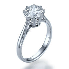1.5ct D-SI2 Enhanced Diamond Round Engagement Ring 950 Platinum SIZE 7.25