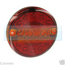12V/24V LED SLIM SLIMLINE FLUSH FIT REAR 140mm ROUND HAMBURGER TAIL LAMP LIGHT