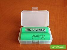 4x SAMSUNG 25R GREEN INR18650-25R 2500mAh 20A IMR HighDrain Li-ion Battery
