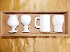 Shot Glasses Ceramic Off White Core Home Set of 4 NIP Beer Stein Mix Barware