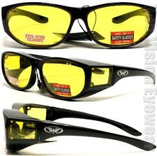 Escort Yellow Night Driving HD Lens Safety Glasses Fit Over Most Sun Z87+