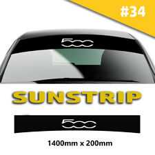 Sunstrip Fiat 500  Car Stickers Decal Graphics Windscreen Stripes