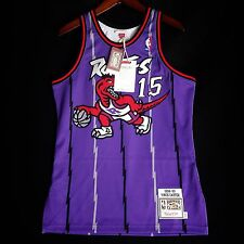 100% Authentic Vince Carter Mitchell Ness Raptors away Jersey Size 40 M