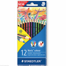 12 X Staedtler Noris wopex Lápices De Colores-Hexagonal forma, anti-break conduce