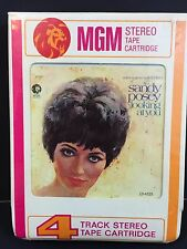 "RARE SEALED 4 TRACK Cartridge SANDY POSEY - MGM F-13-4525  ""LOOKING AT YOU"""