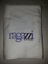 "DOG TOWEL /100% ORGANIC COTTON/22""×44""/ SOFT/NO DYE/NATURAL FABRIC/RAGAZZI/WHITE"