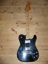 "FENDER 1973 USA AMERICA 1973 TELECASTER DELUXE ""BLACK""  Color w/OHC From JAPAN"