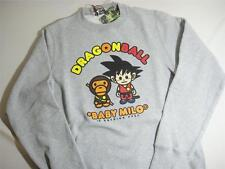 A BATHING APE BAPE DRAGONBALL CREWNECK GRAY BABY MILO SMALL BRAND NEW AUTHENTIC
