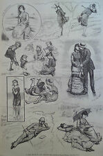 SKETCHES OF LONG BRANCH BEACH NEW JERSEY NEW YORK 1877 HARPER'S WEEKLY
