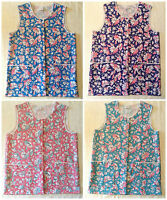 NEW WOMENS LADIES SIZES 8-28 BUTTON FRONT TWO POCKET FLORAL TABARD OVERALL APRON