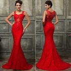 Neu Rot Hochzeitskleid/Brautkleid Ballkleid Abendkleid Gr:34/36/38/40/42/44/46