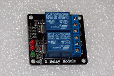 USA !! 1 PC 5VDC 2-CHANNEL 10 AMP RELAY MODULE , LOW LEVEL TTL INPUT , WITH LEDS