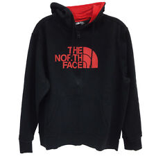 North Face Half Dome Full Zip Hoodie Mens CH2L-EMQ Black Red Logo Hoody Size XL