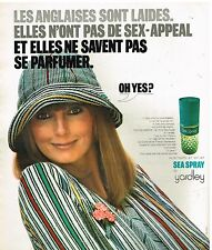 "Publicité Advertising 1975 Eau de Toilette ""Sea Spray"" par Yardley"