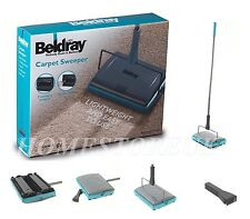 BELDRAY MANUAL CARPET SWEEPER 3 BRUSH CORDLESS HARD FLOOR RUG CLEANER DUSTER 855