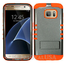 KoolKase Hybrid Silicone Cover Case for Samsung Galaxy S7 - Carbon Fiber