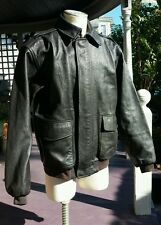 Men's XLARGE TALL LL Bean Goatskin Leather Flying Tigers A2 Bomber Jacket coat