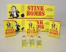 6 STINK BOMBS GLASS VIALS STINKY SMELLY NASTY FART GAS BOMB JOKE GAG GIFT