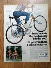 1970 Sears Bicycle Ad  Spyder 500