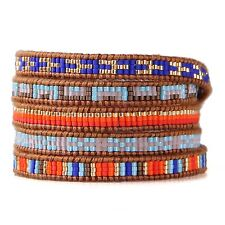 KELITCH 5 Wrap Bracelet Bohemia Seed Bead Leather Handmade Friendship Bracelets