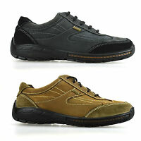 Mens Leather Casual Waterproof Walking Hiking Lace Up Trainers Boots Shoes Size