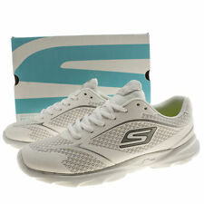 SKECHERS GO RUN PACE WOMENS WHITE MAN MADE SPORTS TRAINERS SIZE 4