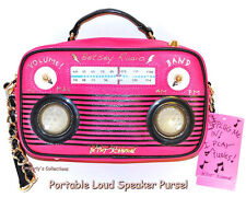 Betsey Johnson Boom Box Crossbody Bag w/ Built In Portable Phone Speakers NWT