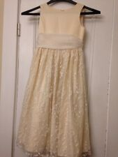 CINDERELLA Brand Girl's Formal Flower Girl Pageant Dress Ivory Sz 8 Lace