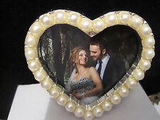 Heart South Sea 2 x 2  White Pearl Picture Frame