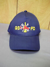 GSFD Fire Department Station 8 Navy Blue Fireman's Adjustable Snap Back Hat Cap