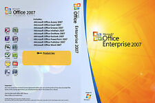 MICROSOFT Office 2007 Enterprise Word EXCEL POWERPOINT completo di Windows 1pc a vita