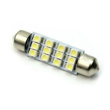 Lampadina 12 LED SMD Tuning Festoon Siluro Bianco Luminoso 0,55W 12V