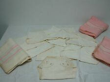 9 VINTAGE SOFT WHITE COTTON BABY DIAPERS & 3 RECEIVING BLANKETS