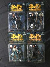 BUFFY THE VAMPIRE SLAYER SET OF 4 MOC MOORE ACTION COLLECTIBLES ANGEL WILLOW J35