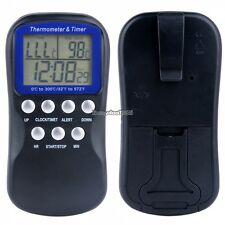 Digital LCD Food Meat Alarm Probe Oven Thermometer Kitchen Timer Cooking ED