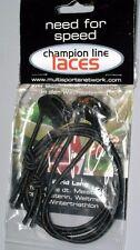 """Elastic Shoe Laces Quick Transition Cord 28"""" BLACK"""