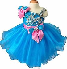Baby Girls' Princess Toddlers Cupcake Christmas Mini Birthday Dress Pageant Gown