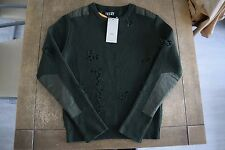 YEEZY SEASON 1 Destroyed Dark Green Sweater Size M Brand New