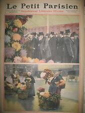 HORTICULTURE FLEUR FETE DU CHRYSANTHEME TOUSSAINT JOURNAL LE PETIT PARISIEN 1910