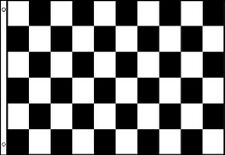 BLACK and WHITE CHECK FLAG 5' x 3' Chequered Checked