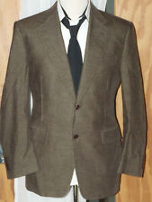 CANALI..MADE IN ITALY MEN  BROWN CORD SMART JACKET SIZE 40.R..