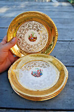 6 Paden City Pottery 22K Gold Band Encrusted Salad Plates, *REDUCED*