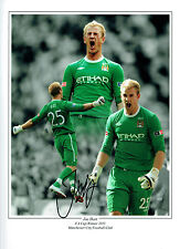 Joe HART Signed Autograph Manchester City England 16x12 Montage Photo AFTAL COA