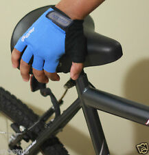 Giant Cycling Bike Bicycle MTB Half Finger Antiskid Silicone Gel Gloves Blue M